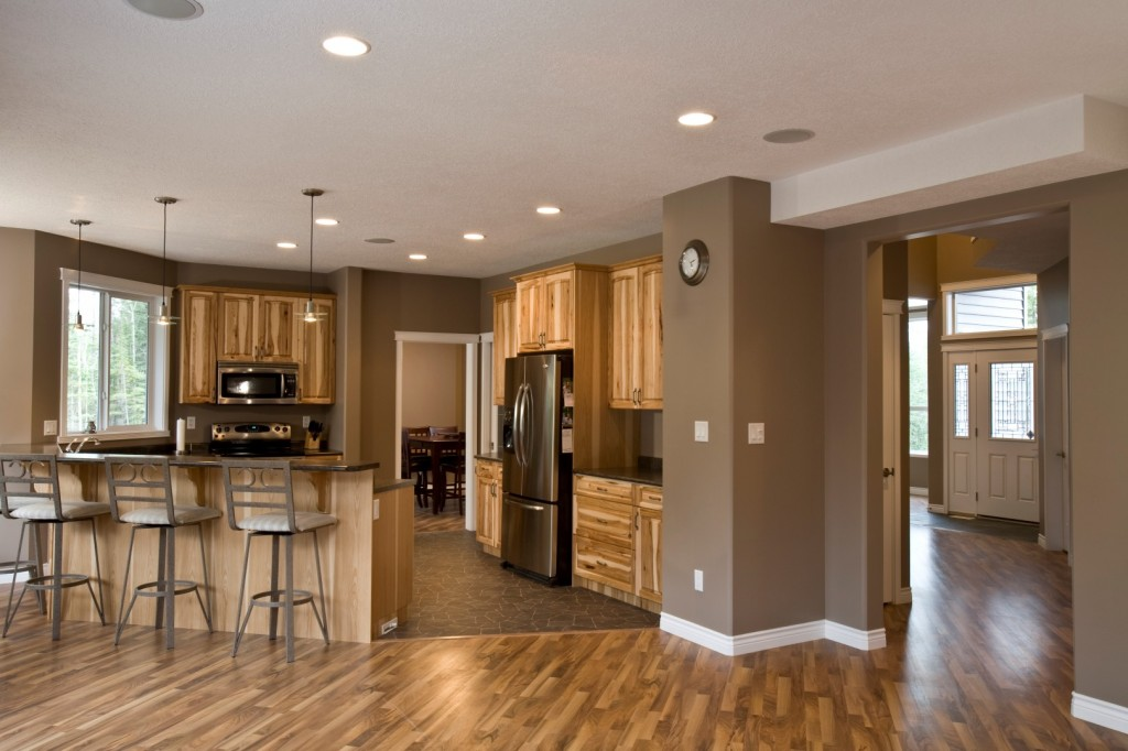 Family room to kitchen large creuzot homes for Large family kitchen